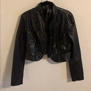 Bisou Bisou cropped pleather jacket